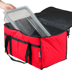 Insulated Red 23 X 13 X 15 Nylon Hot Cold Food Carrier Bag