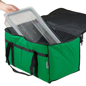 Insulated Green 23 X 13 X 15 Nylon Hot Cold Food Carrier Bag