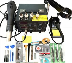 Soldering Station 220v 110v Iron Smd Hot Rework Air Gun Solder Esd Digital Power