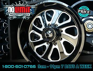 Fuel Flow D587 Wheels Black Milled 20x9 6 8 Lug Pattern 20mm Offset