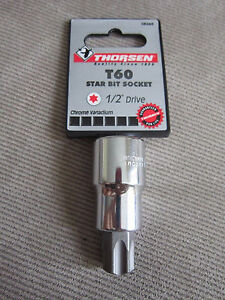 Thorsen T60 1 2 Drive Torx Star Bit Socket Part 58360 New T 60