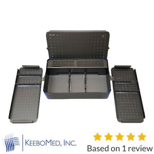 Orthopedic Screws And Instruments Sterilization Case Box With Rack 3 5 4 0mm