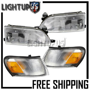 Corner Parking Signal Lights Head Lights Combo Set For 1993 1997 Toyota Corolla
