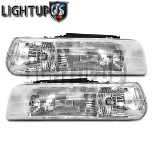 Left Right Sides Pair Headlights For 1999 2006 Chevy Suburban Tahoe Silverado