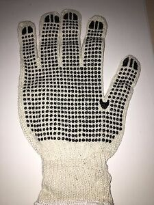 Wholesale 300 Pairs Double Sided Black Dot Work Gloves