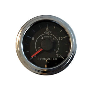 Pyrometer 0 1500f Egt Gauge 2 52mm Chrome W 9 Ft 2 8m K Thermocouple Probe