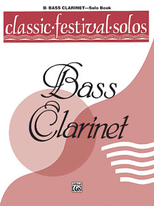 CLASSIC FESTIVAL SOLOS FOR BASS CLARINET MUSIC BOOK-VOLUME 1-BRAND NEW ON SALE