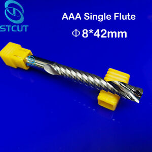 2pc Aaa 8 42mm Tungsten Carbide Single Flute Milling Cutter Cnc Wood Router Bits