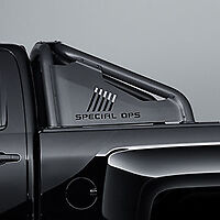 2016 2018 Sierra Silverado Bed Mounted Sport Bar 84126345 Black Special Ops Oem