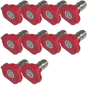 General Pump 9 802 287 0 Red Qc Nozzle 10pk 0 Degrees Size 3