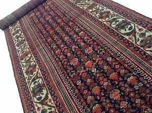 3 7 X 18 4 Ivory Antique 1910 Persian Malayer Oriental Rug Runner Handmade
