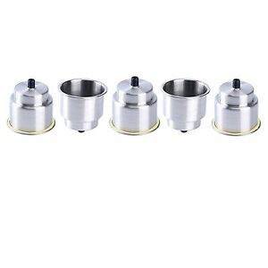 10pcs Stainless Steel Cup Drink Holder With Drain Marine Boat Rv Camper