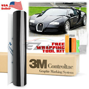 Genuine 3m Gloss Black Vinyl Wrap Car Sticker Film Decal Bubble Free