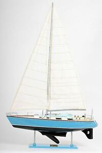 Antique Reproduction Bristol Yacht Sailboat Built 29 3 Wooden Model Assembled