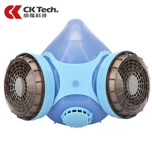 Dual Cartridge Gas Mask Filter Chemical Respirator Anti Dust Air Pollution Mask
