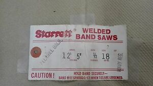 Starrett Welded Band Saw Blade Starrett 12 5 Welded 1 2 Width 18 Teeth inch