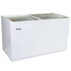 42 10 6 Cu Ft White Commercial Flat Lid Ice Cream Display Freezer