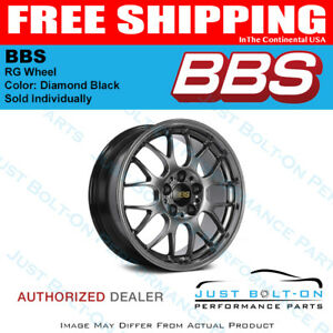 Bbs Rg r 18x10 5x120 Et25 82mm Diamond Black Wheel Pfs clip Required Forged