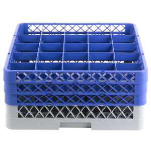 Commercial Dishwasher Machine 25 Cup Glass Tray Rack 3 Extenders Dishwashing