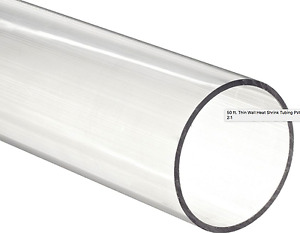 Vinylguard 50 Thin Wall Heat Shrink Tubing 3 I d Clear 2 1 Shrink Ratio