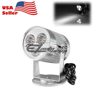 3w 300lm 12v 24v Spotlight Led Lamp Motorcycle Car Truck Off Road Strobe Light