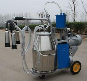 Brand New Milker Electric Piston Milking Machine For Cows Bucket Farm
