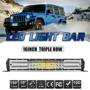 42inch 1520w 8d Tri Row Autofeel Led Light Bar Combo For Ford Truck 4wd 40 44