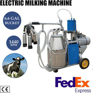 110v Us Plug Electric Cow Milking Machine Milker Pulsator W Piston Pump