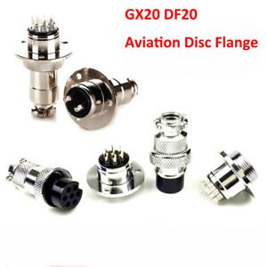 Gx20 Df20 Aviation Disc Flange Male Female Connector 2 3 4 5 6 7 8 9 10 12 Pin