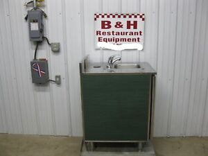 Duke 24 Stainless Steel Hand Sink Wash Station 2 Door Cabinet 2