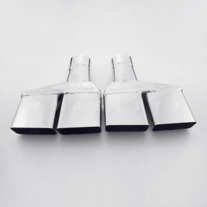 2 5 Inlet Quad Square Out Exhaust Tips For Dodge Challenger 1970 71 72 73 74