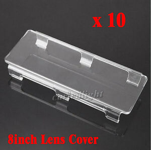10x 8inch Lens Cover Snap On Clear For Straight Curved Led Light Bar 50 52 54