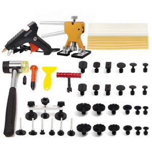 Pdr Kit Paintless Puller Slide Hammer Repair Dent Lifter Hail Removal Glue Tools