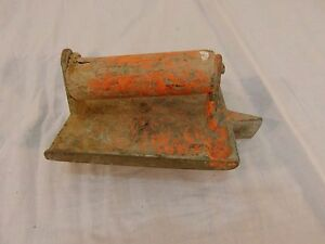 Orange Metal Wooden Handle Concrete Hand Groover