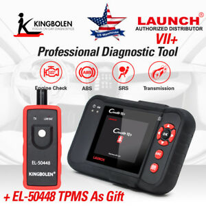 Launch X431 Creader Vii 7 Plus Code Reader Obdii Scanner Abs Srs Engine