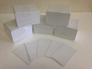 500 X White Composite Pvc 60 40 Cr80 30 Mil Pvc Credit Card Size For Id Printer