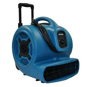 Xpower P 830h 1 Hp Air Mover With Telescopic Handle And Wheels Blue