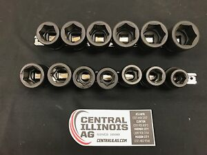 13 piece Impact Socket Set Snap on Made Sc41001 Central Il Ag