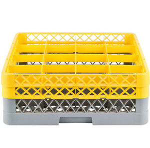 Commercial Dishwasher Machine 16 Cup Glass Tray Rack 2 Extenders Dishwashing