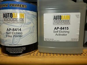 Self Etch Primer Vinyl Wash Activator 2 Gallon Kit Autobahn Ap 8414 8415