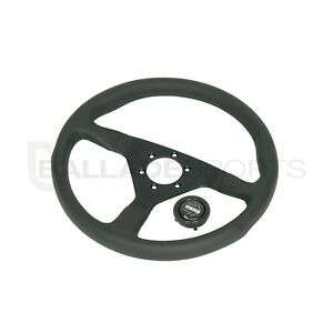 Momo Steering Wheel Monte Carlo 350mm Black Leather Black Stitch
