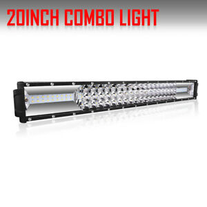 8d Tri Row 720w 22inch Led Work Light Bar Combo Fit For Offroad Ford Suv 20 24