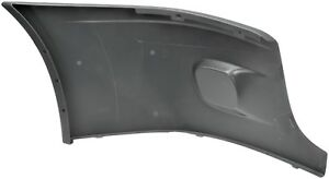 Fits 08 17 Freightliner Cascadia Driver Left Front Gray Bumper End Cap Wo fogs