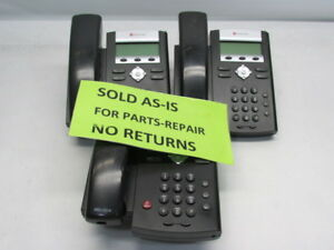 Lot Of 3 Polycom Soundpoint Ip 335 Voip Sip Phones No Stands