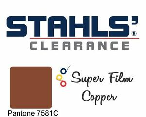 20 X 5 Yards Stahls Super Film Heat Transfer Vinyl Htv Copper