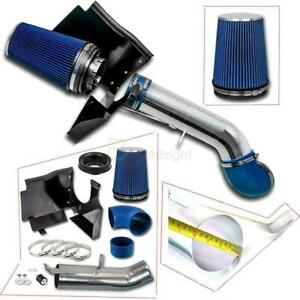 4 4 8l 5 3l 6 0l Heat Shield Cold Air Intake System Filter For Gmc chevy Blue