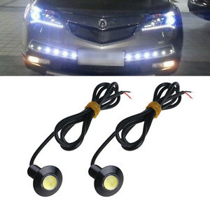 1 Pair 12v Ultra Thin 23mm Car Led Drl Daytime Running Light Eagle Eye Lamp
