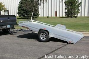 Aluma 7712 T Motorcycle Atv Utv Tilt Utility Trailer 2020 All Aluminum W Rails