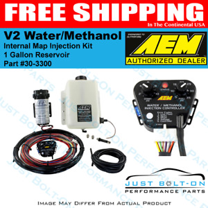 Aem 30 3300 Water Methanol Injection Kit 1 Gallon Tank V2 W Map Sensor Gas Fi