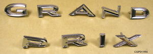 1966 Pontiac Grand Prix Trunk Letter Set New Cgp011